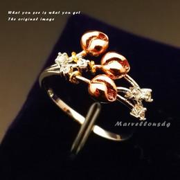 Wholesale Electro Set - New Arrivel Women Electro Gold Plating Diamond Shining CZ Ring Size 6-9