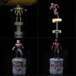 Wholesale Captain America Retail Box - Super Hero Mini PVC Action Figures Civil War Captain America Ant Man Wasp Model Kids Toys Doll 6.5cm With Retail Box LA576-2