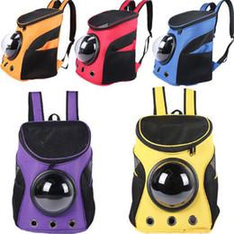 Wholesale Capsule Shape - New Design Carrier Dog Cat Space Capsule Shaped Pet Travel Carrying Breathable Shoulder Backpack Outside Travel Portable Bag
