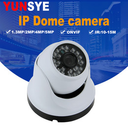 2019 caméra onvif 5mp YUNSYE Caméra IP 720P 1080P Caméra Dôme Intérieur IR Objectif 3.6mm 2MP 4MP 5MP IP Caméra de Sécurité CCTV Réseau Onvif P2P Android iPhone promotion caméra onvif 5mp