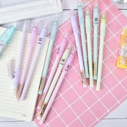 Südkorea-feder online-1 stücke Kawaii Gel Pen 12 Konstellationen Kugelschreiber Südkorea Candy Farbe Gel Pen Pastels Briefpapier
