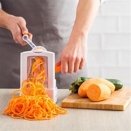 manual picador de frutas Desconto 3 Em 1 manual vegetal spiralizer espiral de frutas Shred processo dispositivo Cutter chopper espiral Slicer Peeler acessórios de cozinha