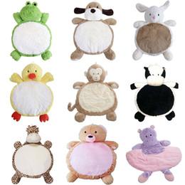 Mattenjunge online-Baby Cartoon Bodenmatten Mädchen Jungen Crawl Gefüllte PP Baumwolle Plüsch Puppe Säuglingstiere Niedlichen Spielzeug Weiche Komfortable Weihnachten Geburtstagsgeschenk