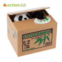 Wholesale Battery Operated Animal Toys - Actionclub Thief Money Box Electronic Pet Toys Cute Panda Children Money Storage Kids Animal Coin Bank Cheapest Stole Coins