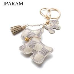 Sacchetti di cane carino online-Il portachiavi del cane dell'unità di elaborazione della borsa sveglia di modo di IPARAM può essere usato per gli accessori della borsa degli accessori chiave dell'automobile