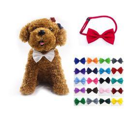Wholesale Mardi Gras Necklaces - Pet dog bow tie adjustable collar neck accessory necklace puppy pet bow mix color