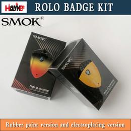 Distintivo elettronico online-Nuovo originale SMOK Rolo Badge Kit 250mAh Badge Design Built-in 250mAh Batteria sostituibile Pod Kit di avviamento sigaretta elettronica Kit Vape