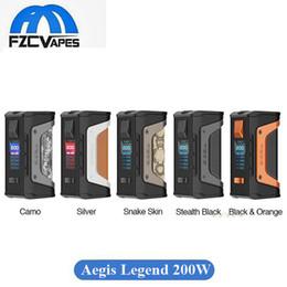 Wholesale Wholesale Legends - Authentic Geekvape Aegis Legend 200W Box Mod Waterproof Vape Mod with Advanced AS Chip 100% Original Geek Vape