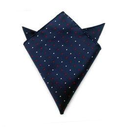 Wholesale children hankies - New Plaid Floral Stripes Square Hanky Polyester Bussiness Pocket Handkerchief Kerchief Wedding Groom Fashion Accessories 210054