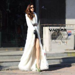 Wholesale Winter White Plush Coat - 2017 Winter New Style Fashion Luxury Wome Women Artificial Fur Coats Plush Fox Fur Windbreaker White Faux Coats Outerwear