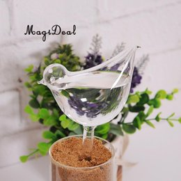 piante da giardino di uccelli Sconti Magideal Indoor Automatic Glass Bird Forma semplice dispositivo di irrigazione per piante da giardino Fiore sistema di acqua Home Decor