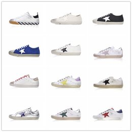 Wholesale Pink Goose - New 2018 Golden Goose Ggdb old style Luxury Designer DSuperstar trainer Casual shoes AAA+quality Black White Men Women Sneakers Size 35-44