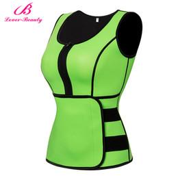 Wholesale Shapewear Tanks - Lover Beauty Neoprene Sauna Suit Tank Top Vest with Adjustable Shaper Waist Trainer Belt Slimming Weight Loss Shapewear-A