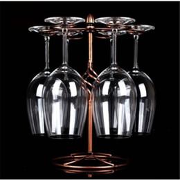 bote de porcelana de metal grossista Desconto Atacado frete grátis racks decorativos pendurado Upside Wine Stand Metal Craft Wine rack