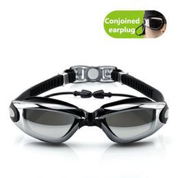2019 occhiali blu rossi adulti Nuovi occhiali da nuoto in silicone professionali anti-fog occhiali da nuoto UV con tappi per le orecchie per gli uomini le donne occhiali sportivi