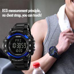 Relojes deportivos Podómetro de hombres Monitor de frecuencia cardíaca Contador de calorías Reloj digital de fitness Relojes de pulsera de marca SKMEI al aire libre desde fabricantes