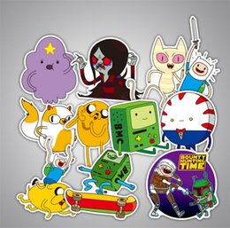 Wholesale bicycle decal stickers - 29PCS SET Adventure Time Funny Anime Sticker Decal For Car Laptop Bicycle Notebook Waterproof Stickers 20SETS Free Shipping