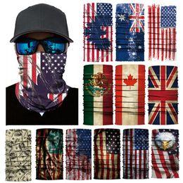 3D magic headband eua bandeira headband multi cabeça cachecol scarve face máscara lenço bandanas magia headband das mulheres dos homens de