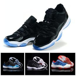 promo code 3a9e5 fe15d Nike Air Jordan 11 Retro Space Jam Hohe Qualität 11 OVO White Gym Red Dark  Grey Schuhe der Männer Frauen blau Wildleder Freizeitschuhe