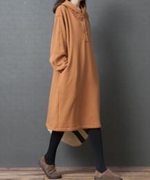 Vestido solto da edição feminina das mulheres on-line-2018 hot-sell nova moda design de moda Novo inverno edição han grandes estaleiros vestido e espessamento de cabelo com capuz mulheres que se vestem pacote solto