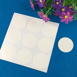 Wholesale books label - 300PCS Lot 4cm Round White Labels Paper Blank Sticker Labels Self-Adhesive Stickers For Jewelry Boxes Baking Bags book car toys