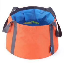 10L Portable Outdoor Travel Pieghevole pieghevole da campeggio Lavabo Bacino Secchiello Lavello Oxford Secchiello per acqua cheap camp wash basins da lavandini fornitori