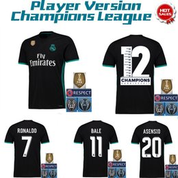 Wholesale Patch Player - Player version 2018 World Cup Real Madrid soccer jersey RONALDO MORATA BALE SERGIO RAMOS KROOS BENZEMA ISCO Football jerseys All patches
