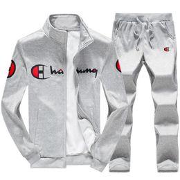Escola jaqueta on-line-Atacado-2018 primavera e outono inverno novos homens de manga comprida terno casual sportswear jaqueta de homens da escola médio Hoodies terno
