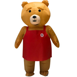bear fancy dress Promo Codes - New Adult Teddy Bear Inflatable Costume Animal Anime Teddy Bear Mascot Halloween Costume Fancy Dress Suit for Men Women WSJ-39