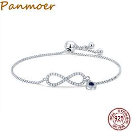 3b817c35c6d9 Moda 925 Sterling Silver Luminous CZ Infinito Amor Pulseras para Las Mujeres  Pulsera de Moda Joyería Que Hace el regalo SCB087