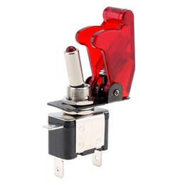 Aus-schalter rot online-Interior Parts Switches Relais Rot Farbe 12V 20A Auto Auto LED Licht SPST Toggle Wippschalter Kontrolle On / Off mit Abdeckung