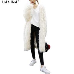 Wholesale White Elegant Cardigans - White Long-Haired Slim Cardigan Women Fur Coat Winter Warm Faux Fur Jacket Long Sleeve Elegant Coats Female 2016 New SWQ0302-4