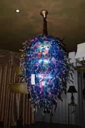 2019 estilos de arte famosos Lustres De Vidro Lustre de Design criativo Azul Estilo Vintage Mão Soprado De Vidro Famoso Home Hotel Art Lustre Decorativo desconto estilos de arte famosos