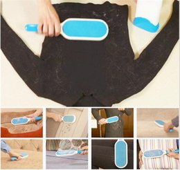 Wholesale Double Dog - 10pcs Pet Dog Cat Fur and Lint Remover with Self-Cleaning Base - Double-Sided Brush Removes from Clothes & Furniture C037