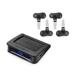 Canada Système de surveillance de la pression des pneus de voiture portable TPMS 4 Capteurs internes Système de surveillance de l'énergie solaire Affichage à LED du système d'alarme Surveillance de la pression des pneus cheap internal alarm Offre