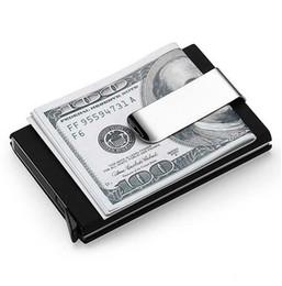 Wholesale Men Clips - High QualitId Men Wallets Credit card holder Automatic card sets business aluminum wallet card sets cash metal clip holder GA185