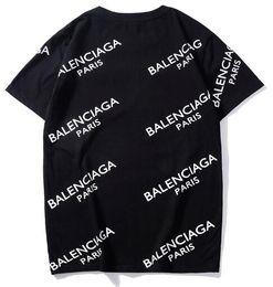 diseño de la camiseta Rebajas Unisex Venta caliente Diseño de París Hombres Impresos bb Logotipo completo MODO Camiseta Camiseta Moda femenina barcelo Moda delgada Punto Tops Camiseta