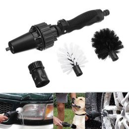 Wholesale Pressure Wash Car - 360 Wheel Brush Tool Cleaning Brush Water Spray High-Pressure Car Dog Pet Washing For Dust Removal Portable Kitchen Tool WX9-680