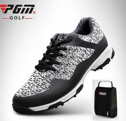 Ranura de guía de gas 3D para hombre Zapatos de golf de diseño patentado Tejido de tela tejida transpirable Tenis de golf Zapatos antideslizantes con bolsas desde fabricantes
