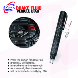 Wholesale Brake Fluid Tester - Free shipping Brake Fluid Tester 5 LED Car Vehicle Auto Automotive Testing Tool for DOT3 DOT4
