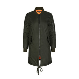 c17e8aa26e1 Winter Long Jackets and Coats Spring Female Coat Casual Military Olive  Denim Bomber Women Basic Jackets Short