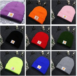 Wholesale Christmas Green Yarn - Men Women Winter Beanie Caps hats 16 Colors 2017 Winter Knitted Skull Caps Fashion Designer Beanies Warm Outdoor Hats Brand Casual Caps