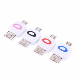 Carta sd di colore rosa online-Lettore di smart card VBESTLIFE Lettore di schede Micro SD TF Adattatore Micro USB a USB 2.0 OTG Nero, blu, rosso e rosa 4 colori
