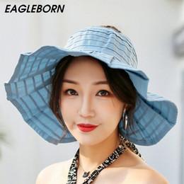 ff3030d01e6 Fashion uv sun hat summer sun hats for women straw hat girls beach cap  visors caps multipurpose foldable floppy