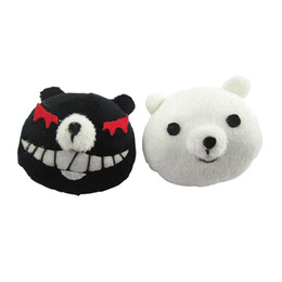 Wholesale People Clips - Danganronpa Dangan-Ronpa Junko Enoshima monokuma Cosplay Hairpin headwear Hair Clip Black White Bear