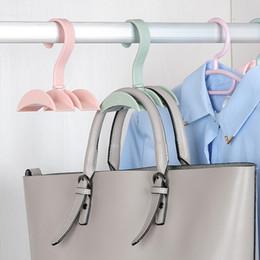 Organizador de armario colgando online-Hanging Closet Organizer Hooks Hanger Holder Hang Necktie Rack Armario Originality Pylons Home Accesorios de almacenamiento Pure Color 1 55jw bb