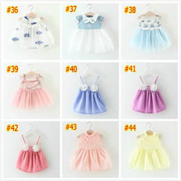 Wholesale Girl Different Dress - #36-44 Girl dresses 2018 9 different color one piece dress children's clothing summer new children's skirts cotton girl floral flowers dress