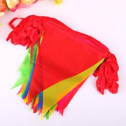 vendita di bandiere di natale Sconti Triangle String Flags Multi Colors Resuable Hanging Buntings For Christmas Party Decorazioni di nozze Banner colorato Vendita calda 9cd3 B