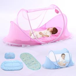 Moskitonetz Bett Baldachin Pop Up Faltbare Reisebett mit Kissen  für Neugeboren