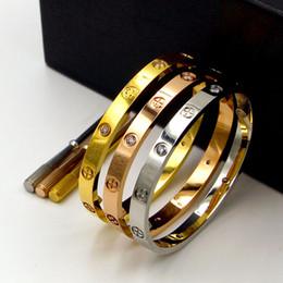 braceleiras de ursinho de aço inoxidável Desconto Novo estilo prata rosa 18k ouro 316L pulseira de aço inoxidável parafuso com chave de fenda e parafusos caixa original nunca perde